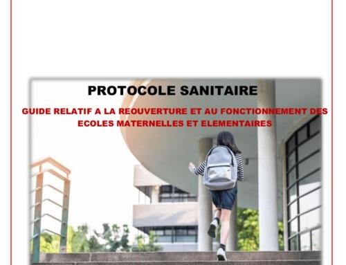 Protocole sanitaire écoles : publié le 3 mai